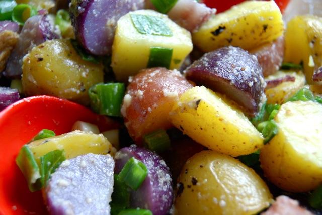 Red, White, and Blue Potato Salad   Salt Free Vegan