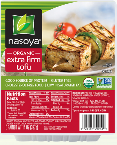 Nasoya Organic Non-GMO Extra Firm Tofu